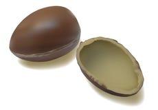Huevos de chocolate stock de ilustración