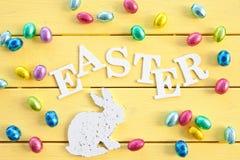 Huevos de chocolate para Pascua Fotografía de archivo libre de regalías