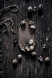 Huevos de codornices en la tabla de madera Fotografía de archivo libre de regalías