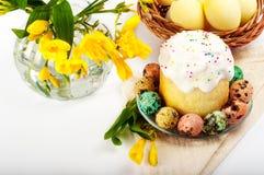 Huevos de codornices Huevos pintados para Pascua Aún lifes coloridos Imagen de archivo
