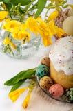 Huevos de codornices Huevos pintados para Pascua Aún lifes coloridos Imagen de archivo libre de regalías