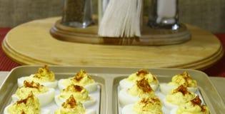 Huevos de Deviled Imagen de archivo libre de regalías