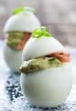 Huevos de Deviled Foto de archivo libre de regalías