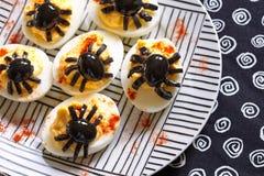 Huevos de Deviled para Halloween Fotografía de archivo libre de regalías