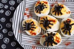 Huevos de Deviled para Halloween Fotografía de archivo