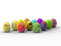 Huevos de docena Pascua Fotografía de archivo libre de regalías