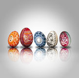 Composición de los huevos de Pascua Foto de archivo libre de regalías