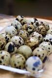Huevos de Guail como breackfast de la mañana Imágenes de archivo libres de regalías