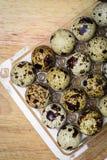 Huevos de Guail como breackfast de la mañana Imagen de archivo libre de regalías