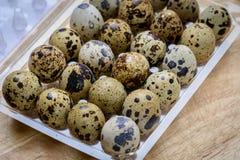 Huevos de Guail como breackfast de la mañana Fotos de archivo libres de regalías