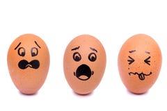 Huevos de la cara del pánico del drenaje Imagen de archivo libre de regalías