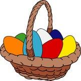 Huevos de la cesta Foto de archivo