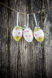 Huevos de la decoración de Pascua Fotografía de archivo