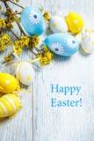 Huevos de la decoración de Pascua Foto de archivo