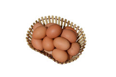Huevos de la granja Fotos de archivo libres de regalías