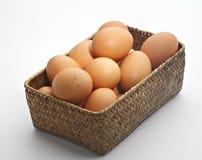Huevos de la granja de Brown. Imagenes de archivo