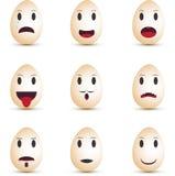 Huevos de los Emoticons Imagen de archivo