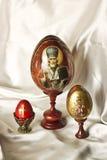 Huevos de madera Foto de archivo libre de regalías