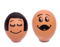 Huevos de novia y del novio del drenaje Fotografía de archivo libre de regalías