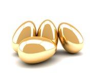Huevos de oro Fotografía de archivo