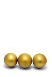 3 huevos de oro imagen de archivo libre de regalías