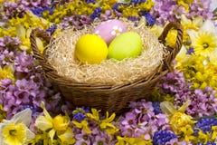 Huevos de Pascua. Imagen de archivo libre de regalías