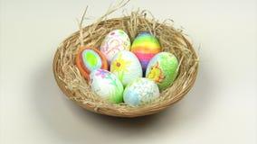 Huevos de Pascua almacen de video