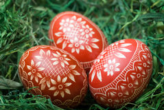 Huevos de Pascua. Fotos de archivo