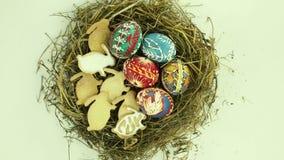 Huevos de Pascua almacen de metraje de vídeo