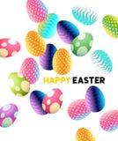 Huevos de Pascua abstractos del chocolate