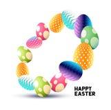 Huevos de Pascua abstractos del chocolate Foto de archivo