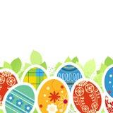 Huevos de Pascua adornados stock de ilustración