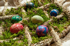 Huevos de Pascua adornados Imagenes de archivo