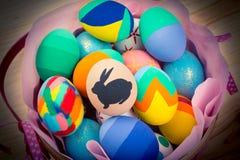 Huevos de Pascua adornados Imagen de archivo