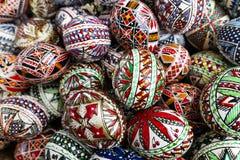 Huevos de Pascua adornados imágenes de archivo libres de regalías