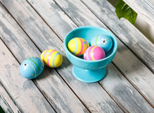 Huevos de Pascua agradables monocromáticos imagen de archivo libre de regalías