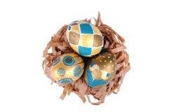 Huevos de Pascua aislados Fotos de archivo