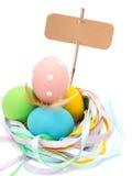 Huevos de Pascua aislados en blanco Fotografía de archivo libre de regalías