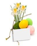 Huevos de Pascua aislados en blanco Imagen de archivo