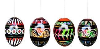 Huevos de Pascua aislados en blanco con los caminos de recortes Fotografía de archivo libre de regalías