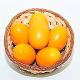 Huevos de Pascua amarillos Foto de archivo libre de regalías