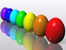 Huevos de Pascua. Arco iris Fotos de archivo libres de regalías
