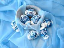 Huevos de Pascua azules imagen de archivo