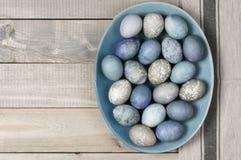 Huevos de Pascua azules y grises Fotografía de archivo libre de regalías