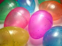 Huevos de Pascua brillantes Fotos de archivo libres de regalías