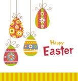 Huevos de Pascua colgantes ilustración del vector