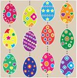 Huevos de Pascua colgantes Fotografía de archivo libre de regalías