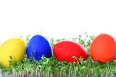 Huevos de Pascua coloreados Imagen de archivo libre de regalías