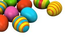 huevos de Pascua coloreados 3d Fotos de archivo