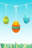 Huevos de Pascua coloridos stock de ilustración